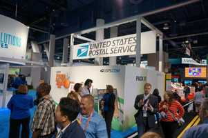 The USPS even had a booth for shipping solutions.