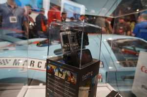 There were several GoPro cameras on display, and it appeared that a few also disappeared with the very large crowd.