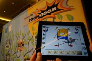 Apps specifically designed for kids were on display. This app allows users to quickly create animations.