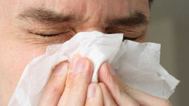 Sick, ill, cold, flu, allergies, blowing nose