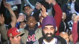"""""""It's been really depressing,"""" Kings fan Ravneet Singh says outside Sleep Train Arena as fans begin to chant."""