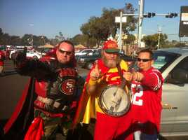 Apparently, even super heroes are fans of the Niners.