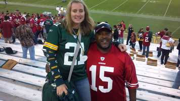 This photo was taken at Lambeau Field before the Week 1 game between the 49ers and Packers.