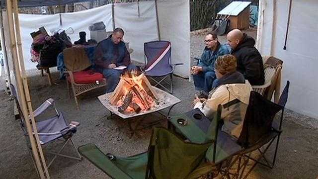 Homeless camp provides haven from freezing temps