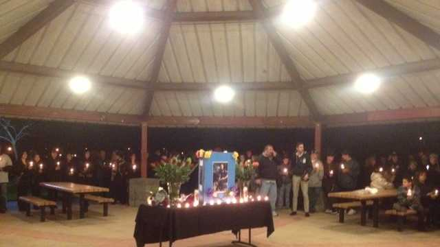 A vigil was held in Sacramento County on Wednesday for slain Officer Kevin Tonn, who was 35 when he was killed on the job earlier this week in Galt (Jan. 16, 2013).