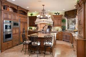 A look at the home's gourmet chef's kitchen.