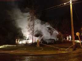 Fire investigators said a home in Colfax is a total lost following an early-morning blaze Monday.