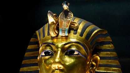 King Tut was buried in 1358 B.C. with his treasures, includinghundreds of gold figurines