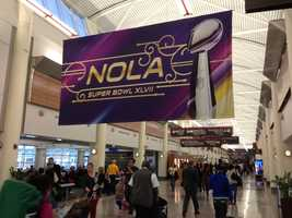 A look inside the Louis Armstrong New Orleans International Airport.