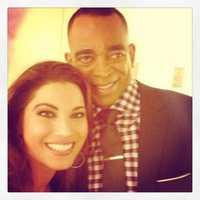KCRA 3 anchor Lisa Gonzales with Stuart Scott (Jan. 28, 2013).