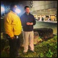 KCRA 3's Del Rodgers, left, with Chris Riva (Jan. 28, 2013).