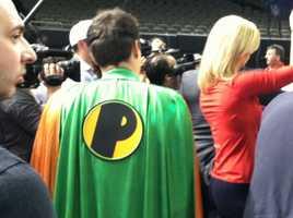 There were even super heroes at Super Bowl XLVII. (January 29, 2013)