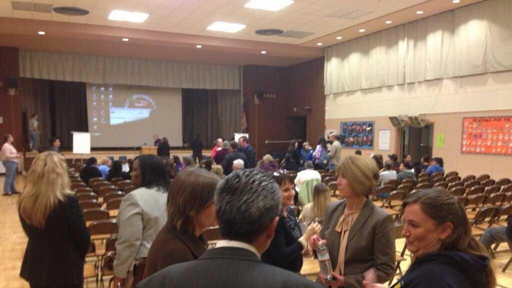 School closure meeting