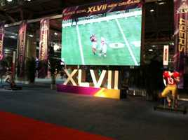 Photos from the exhibits at the Super Bowl XLVII NFL Experience. (January 31, 2013)