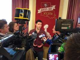 Jed York addresses the media in New Orleans on Thursday, three days ahead of the Super Bowl between the San Francisco 49ers and the Baltimore Ravens (Jan. 31, 2013).