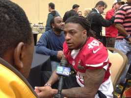 Dashon Goldson chats with Del Rodgers (Jan. 31, 2013).