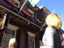 Here's KCRA 3's Kellie DeMarco on Bourbon Street (Feb. 1, 2013).
