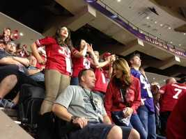 Fans were pumped in New Orleans on Sunday, watching the 49ers take on the Ravens in the Super Bowl (Feb. 3, 2013).