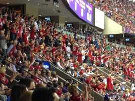 Fans go wild inside the Superdome at Sunday's Super Bowl (Feb. 3, 2013).