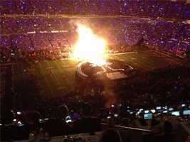 Inside Beyonce's halftime show (Feb. 3, 2013).
