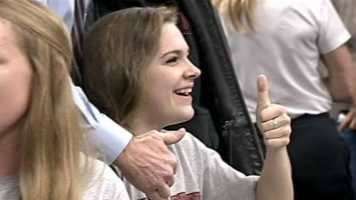 This Granite Bay senior is all thumbs up at National Signing Day.