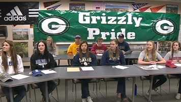 15 Granite Bay seniors signed letters of intent to play college sports on Wednesday.