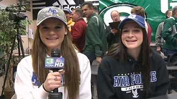 Granite Bay twins Chloe and Lily Forlini are taking their tennis skills to the Unites States Air Force Academy.