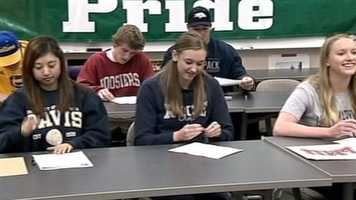 Seniors at Granite Bay High School signed letters of intent to the college of their choice on Wednesday.