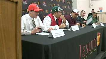 Jesuit seniors signed letters of intent on Nationals Signing Day.