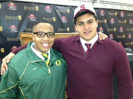 Austin White and Sina Javidan-Nejad from Jesuit High School will both be competing in track and field in college. White is slated to attend University of Oregon with a 3.3 GPA and Javidan-Nejad is headed to Stanford University with an impressive 4.65 GPA.