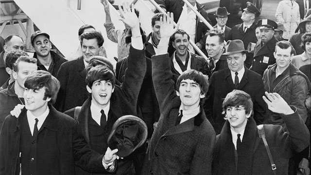 The Beatles arrive in America, 1964