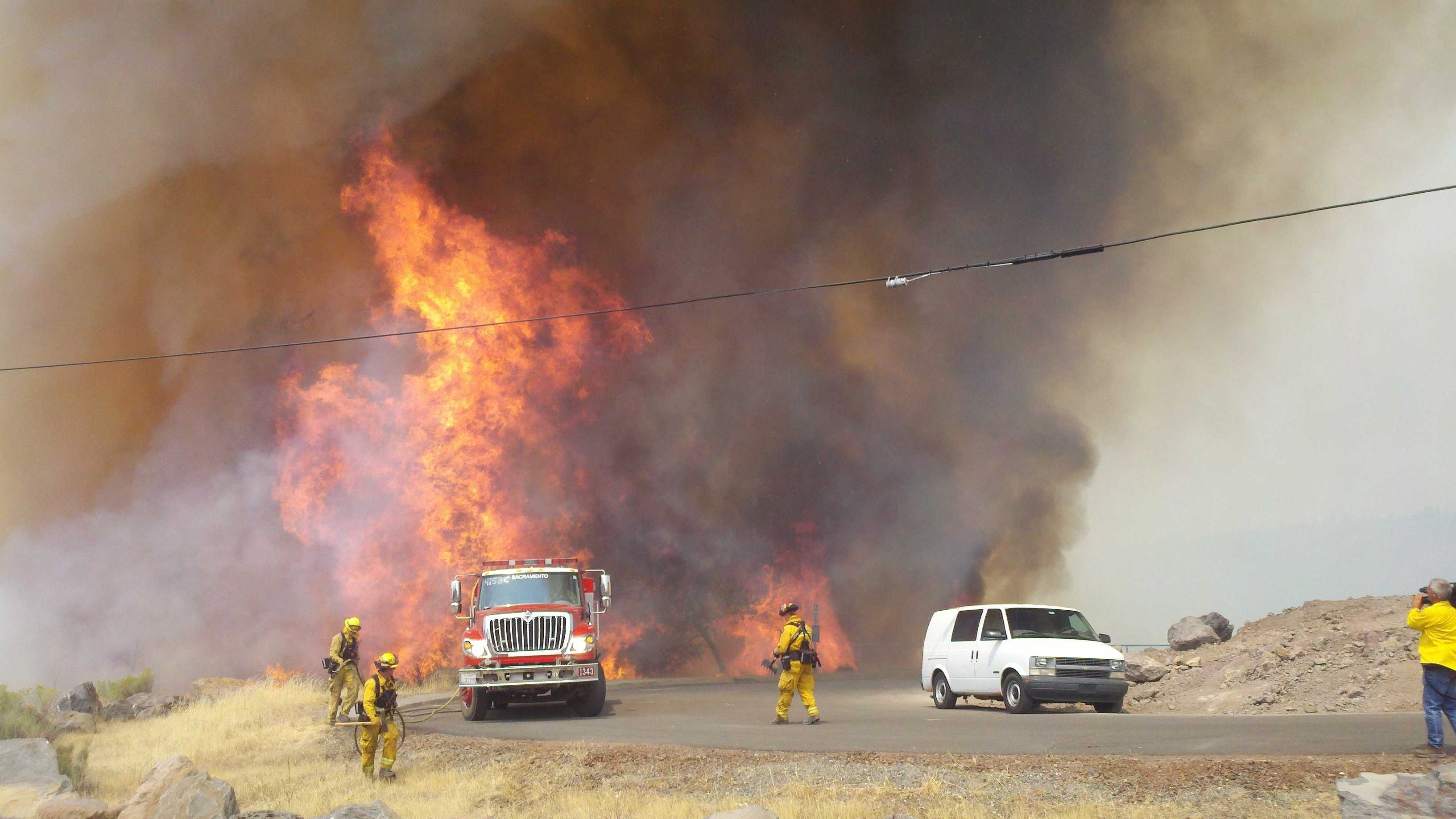 Ponderosa wildfire