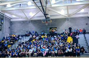 Fans pack the stands in support of Del Oro's Anti-Bullying campaign.