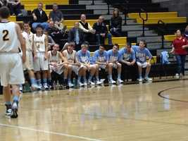 The Del Oro boys basketball team wore shirts to support the school's anti-bullying campaign.