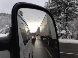 Going up Interstate 80 through the Sierra. (Feb. 19, 2013)