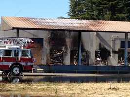 The structure was vacant, but Turlock residents said they have seen homeless people roam in and out of the building.