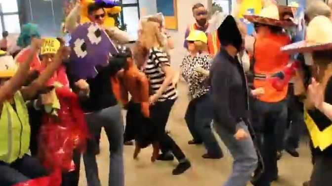 """The workers at Sacramento-based ad agency Runyon Saltzman & Einhorn posted a """"Harlem Shake"""" video last Friday."""