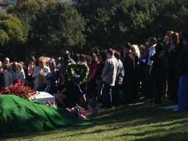 Several dozen people gathered at a cemetery overlooking the Carquinez Strait in Benicia on Thursday to remember the 13-year-old Suisun City girl who was found raped and killed in a Fairfield park earlier this month (Feb. 21, 2013).