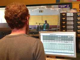 The Hangar Studio started out recording music on audiotape but now uses digital hard drives.