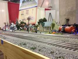Vendors and train hobbyist filled 100,000 square feet of Cal Expo's Pavilion with model train displays, products for sale and even a Thomas Train for kids to ride on.