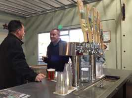 Most of this crowd had gathered at American River Brewing Company's tasting room after work on Thursday. Some have already become regulars, though the brewery has been in business for only one year.