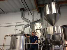 Mathis shows KCRA his hot liquor tank and other equipment at his brewery on Trade Center Drive in Rancho Cordova. Mathis expects to sell roughly 450 barrels per year of beer, at places like Whole Foods and Total Wine, along with numerous restaurants.