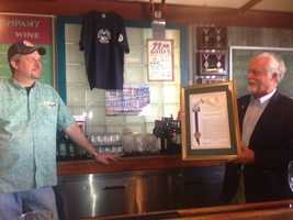 Starting Friday night, Sacramento kicks off Beer Week. Area beer makers and patrons have already begun to celebrate, including assemblyman Wes Chesbro. He presents Glynn Phillips, the owner of downtown Sacramento's Rubicon Brewing Company, with a proclamation honoring Rubicon and recognizing it as Sacramento's oldest brewery.
