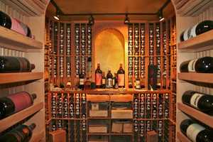 This wine room holds nearly 4,000 bottles of wine.