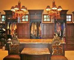Talk about a walk-in closet...