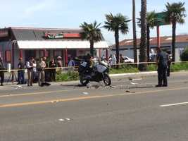 An officer riding a motorcycle Tuesday was taken to an area hospital following a crash in south Sacramento.