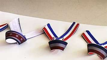 These ribbons were made for the families andcolleaguesof detectives Baker and Butler.
