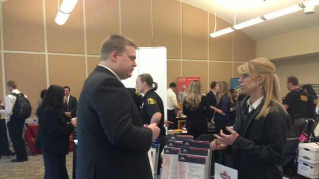 Inside a career fair held Wednesday (March 6, 2013).