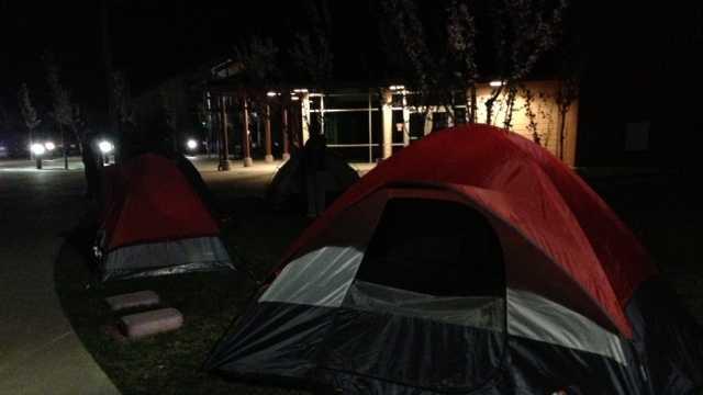 School Tent City