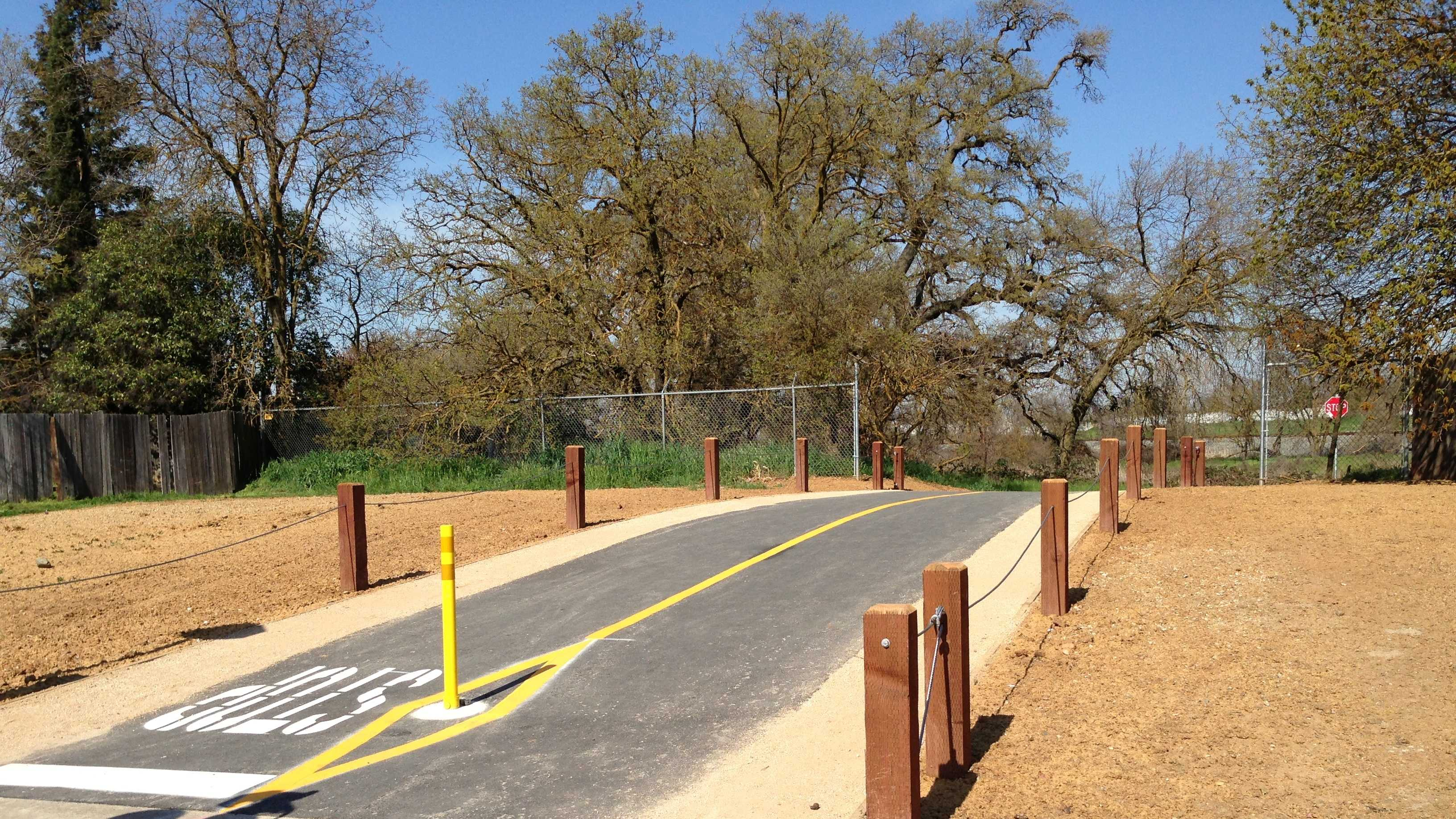 The new Camada Trail in Elk Grove is 100 feet long and cost $115,000 to build.
